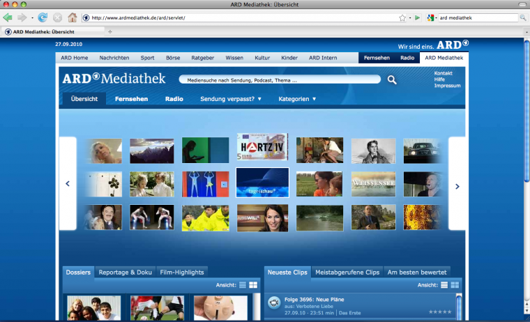 ARD Mediathek - Screenshot