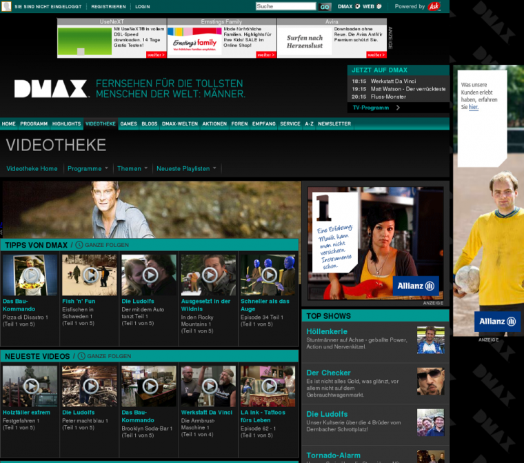 DMAX Mediathek - Screenshot