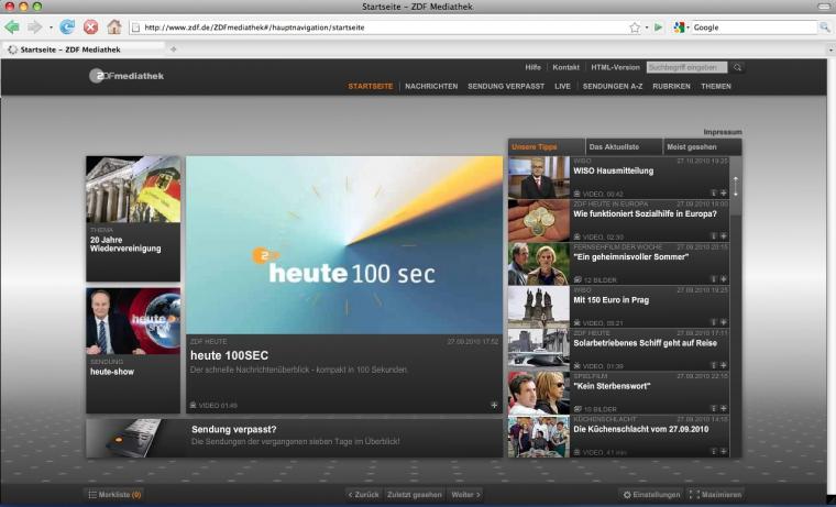 ZDF Mediathek - Screenshot